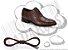 Cadarço de Sapato Marrom Encerado Redondo Alg 60cm (Par) - Imagem 1