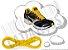 Cadarço de Tênis Amarelo Oval Pol 120cm (Par) - Imagem 1