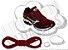 Cadarço de Tênis Vinho Oval Pol 120cm (Par) - Imagem 1