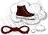 Cadarço de Tênis e Sapatênis Vinho Achatado Pol 120cm (Par) - Imagem 1