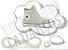 Cadarço de Tênis e Sapatênis Areia Achatado Pol 120cm (Par) - Imagem 1