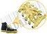 Cadarço de Tênis e Sapatênis Amarelo Achatado Alg 120cm (Par) - Imagem 2