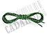 Cadarço de Tênis Pontilhado Preto e Verde Claro Oval Pol 120cm (Par) - Imagem 3