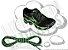 Cadarço de Tênis Pontilhado Preto e Verde Claro Oval Pol 120cm (Par) - Imagem 1