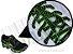 Cadarço de Tênis Pontilhado Preto e Verde Claro Oval Pol 120cm (Par) - Imagem 2