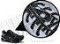 Cadarço de Tênis Pontilhado Preto e Branco Oval Pol 120cm (Par) - Imagem 2
