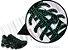 Cadarço de Tênis Pontilhado Preto e Verde Oval Pol 120cm (Par) - Imagem 2