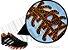 Cadarço de Tênis Pontilhado Preto e Laranja Oval Pol 120cm (Par) - Imagem 2