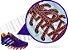 Cadarço de Tênis Pontilhado Roxo e Laranja Oval Pol 120cm (Par) - Imagem 2