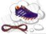 Cadarço de Tênis Pontilhado Roxo e Laranja Oval Pol 120cm (Par) - Imagem 1