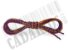 Cadarço de Tênis Pontilhado Roxo e Laranja Oval Pol 120cm (Par) - Imagem 3