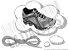 Cadarço de Tênis Pontilhado Cinza e Chumbo Oval Pol 120cm (Par) - Imagem 1