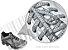 Cadarço de Tênis Pontilhado Cinza e Chumbo Oval Pol 120cm (Par) - Imagem 2