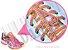 Cadarço de Tênis Pontilhado Rosa e Amarelo Oval Pol 120cm (Par) - Imagem 2