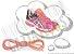 Cadarço de Tênis Pontilhado Rosa e Amarelo Oval Pol 120cm (Par) - Imagem 1