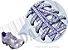 Cadarço de Tênis Pontilhado Branco e Roxo Oval Pol 120cm (Par) - Imagem 2