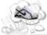 Cadarço de Tênis Branco Oval Pol (Par) - Imagem 1