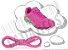 Cadarço de Tênis Rosa Oval Pol (Par) - Imagem 1