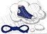 Cadarço de Tênis e Sapatênis Azul Achatado Pol (Par) - Imagem 1