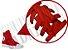 Cadarço de Tênis e Sapatênis Vermelho Achatado Pol (Par) - Imagem 2