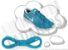 Cadarço de Tênis Azul Turquesa Oval Pol (Par) - Imagem 1