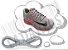 Cadarço de Tênis Cinza Claro Oval Pol (Par) - Imagem 1