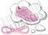 Cadarço de Tênis Rosa Bebê Oval Pol (Par) - Imagem 1