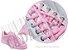 Cadarço de Tênis Rosa Bebê Oval Pol (Par) - Imagem 2