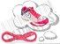 Cadarço de Tênis Rosa Fluorescente Oval Pol (Par) - Imagem 1