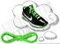 Cadarço de Tênis Verde Fluorescente Oval Pol (Par) - Imagem 1