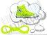 Cadarço de Tênis e Sapatênis Amarelo Fluorescente Achatado Pol (Par) - Imagem 1