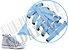 Cadarço de Tênis e Sapatênis Azul Bebê Achatado Pol (Par) - Imagem 2