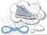 Cadarço de Tênis e Sapatênis Azul Bebê Achatado Pol (Par) - Imagem 1