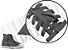 Cadarço de Tênis e Sapatênis Cinza Escuro Achatado Pol (Par) - Imagem 2