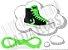 Cadarço de Tênis e Sapatênis Verde Fluorescente Achatado Pol (Par) - Imagem 1