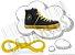 Cadarço de Tênis e Sapatênis Amarelo Achatado Pol (Par) - Imagem 1