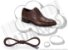 Cadarço de Sapato Marrom Escuro Encerado Redondo Alg (Par) - Imagem 1