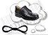 Cadarço de Sapato Preto Redondo Alg (Par) - Imagem 1