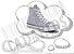 Cadarço de Tênis e Sapatênis Branco Achatado Pol (Par) - Imagem 1
