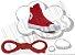 Cadarço de Tênis e Sapatênis Vermelho Achatado Pol (Par) - Imagem 1