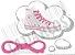 Cadarço de Tênis e Sapatênis Rosa Achatado Pol (Par) - Imagem 1