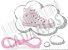 Cadarço de Tênis e Sapatênis Rosa Bebê Achatado Pol (Par) - Imagem 1