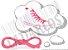 Cadarço de Tênis e Sapatênis Rosa Fluorescente Achatado Pol (Par) - Imagem 1