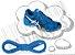 Cadarço de Tênis Azul Royal Oval Pol 120cm (Par) - Imagem 1