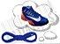 Cadarço de Tênis Azul Oval Pol 120cm (Par) - Imagem 1