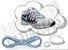 Cadarço de Tênis Azul Bebê Oval Pol 120cm (Par) - Imagem 1