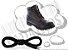 Cadarço de Boot ou Bota Preto Redondo Pol 120cm (Par) - Imagem 1