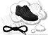 Cadarço de Sapato Preto Redondo Pol 60cm (Par) - Imagem 1