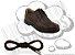 Cadarço de Sapato Marrom Escuro Redondo Pol 60cm (Par) - Imagem 1