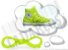 Cadarço de Tênis e Sapatênis Amarelo Florescente Achatado Pol 120cm (Par) - Imagem 1